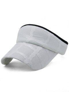 Lightweight Open Top Baseball Visors Hat - White