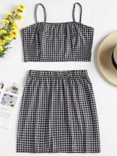 Checked Jersey Top And Skirt Two Piece Set - Multi-b M