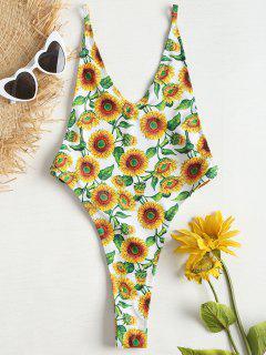 Traje De Baño Sunflower Dropped Thong Thong - Multicolor L