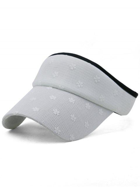 shops Flourishing Floral Open Top Sunscreen Hat - WHITE  Mobile