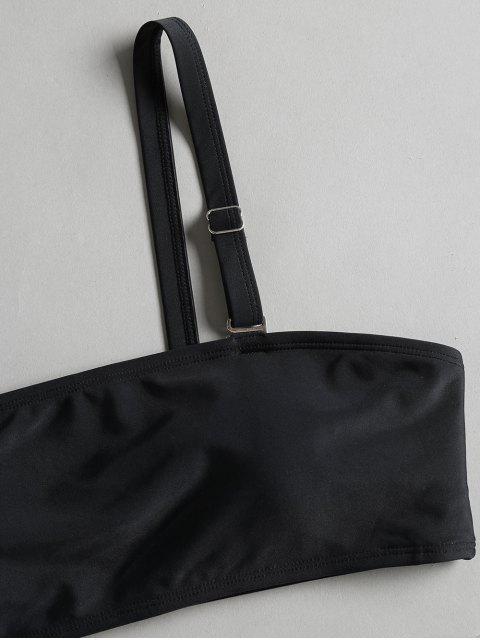 sale String Two Tone Cami Bikini - BLACK L Mobile