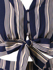De Pizarra Pantalones De A 3x Bowknot De Oscuro Grande Talla Conjunto Cortos Rayas Azul PxRSvwqn