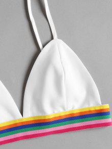 Shorts M Striped Blanco Colorful Top Set Bralette Y 1wAS1I