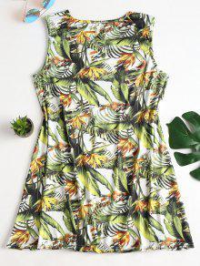 250;nica Estampado De Verde Sol De Minifalda T Vestido S Tropical pnfTYZxX