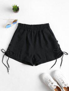 جيوب الرباط حتى ارتفاع مخصر السراويل - أسود Xl