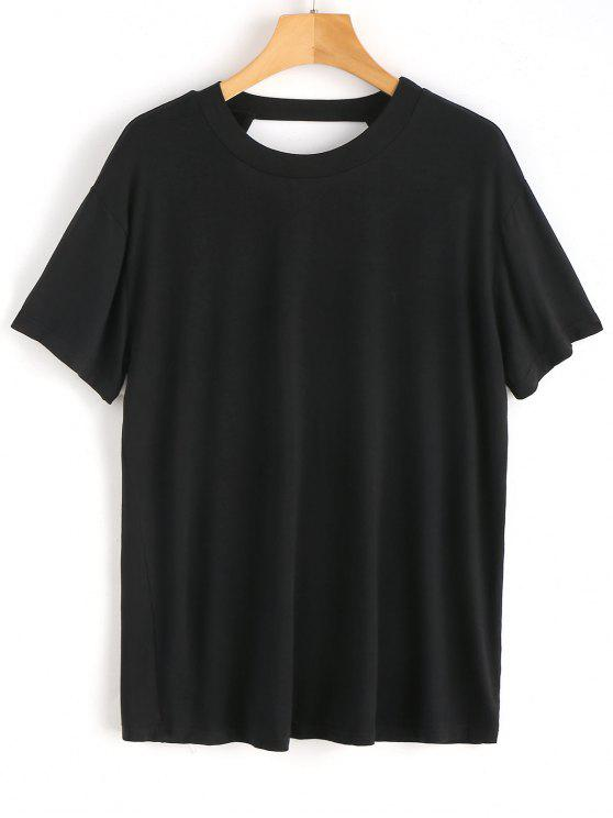Open Back Plain Top - Negro M