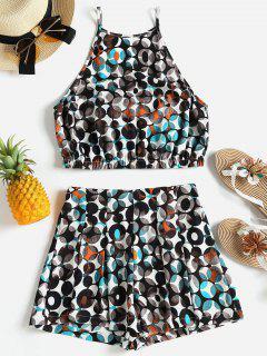 Printed Cami Shorts Set - Multi S