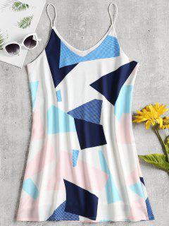 Cami Geometric Panel Mini Dress - Multi L