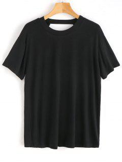 Open Back Plain Top - Black L