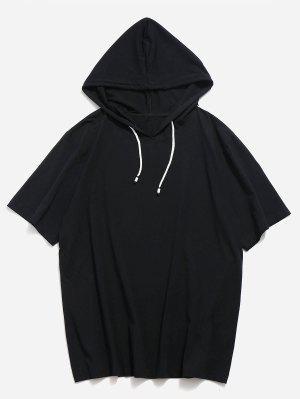 Kordelzug Kurzarm Hoodie T-Shirt