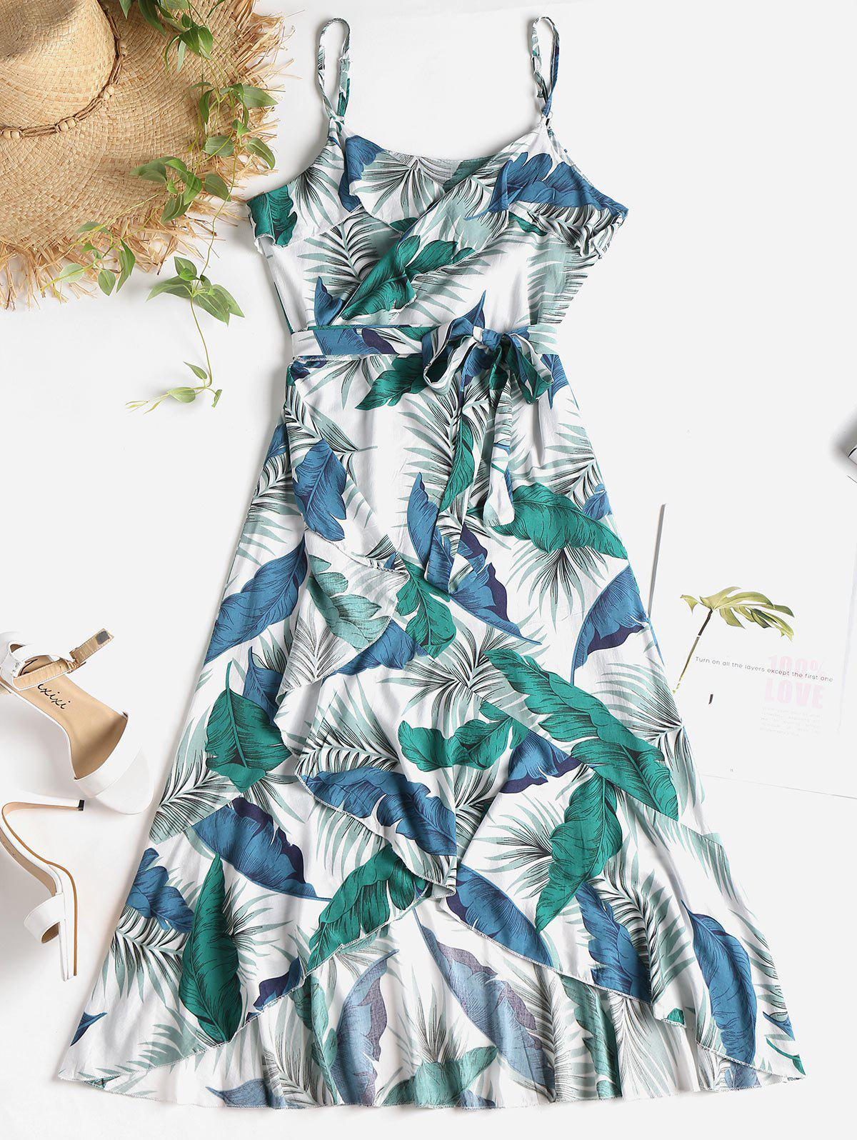 Palm Leaf Print Midi W