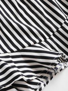 Volantes Negro Sundress S Cami Striped Mini pnAxn8f
