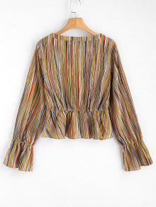 A Blusa Rayas M De Multicolor Bajo Corte 60tqrAwxt
