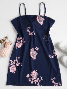 فستان قصير من الكريب - ازرق غامق S