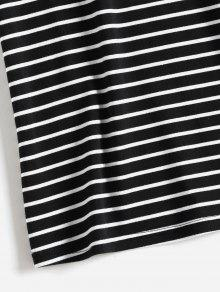 Shoulder Negro Camiseta L One Stripes zc6vPEY