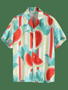 Camisa Estampado De Con Muesca Sand Cuello PwTOqS
