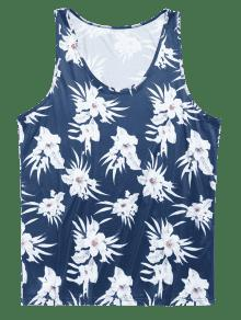 Flores Verano Mangas Top Sin De Azul De De De Hawaii Ar qATWp4w7W
