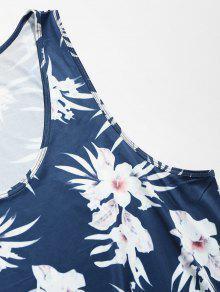 Azul Verano Flores De Top De Hawaii Mangas De Ar Sin De x8U8wXCpq