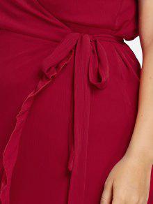 De L Con De Atado Vestido Volantes Encaje Cami Grandes De De Rojo Bomberos Tallas 243;n Cqwg741x