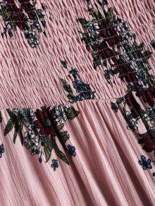 Khaki Descubiertos Hombros L Con Vestido Rosa Floral tA7nxqEwX