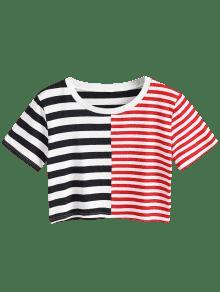M Patchwork Rayas A De Recortada Camiseta Multicolor pYqf0wx