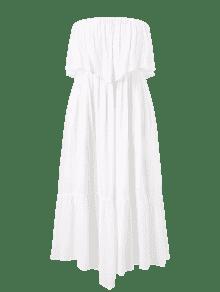 Maxi Plus Blanco De L Vestido Tubo Fluido Size q6HwRt