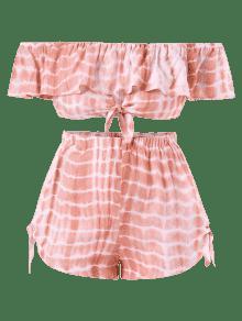 3x De Te Plus Rosa Claro Flounce Anudado ido Pantalones Cortos Size 7PwnFqCv
