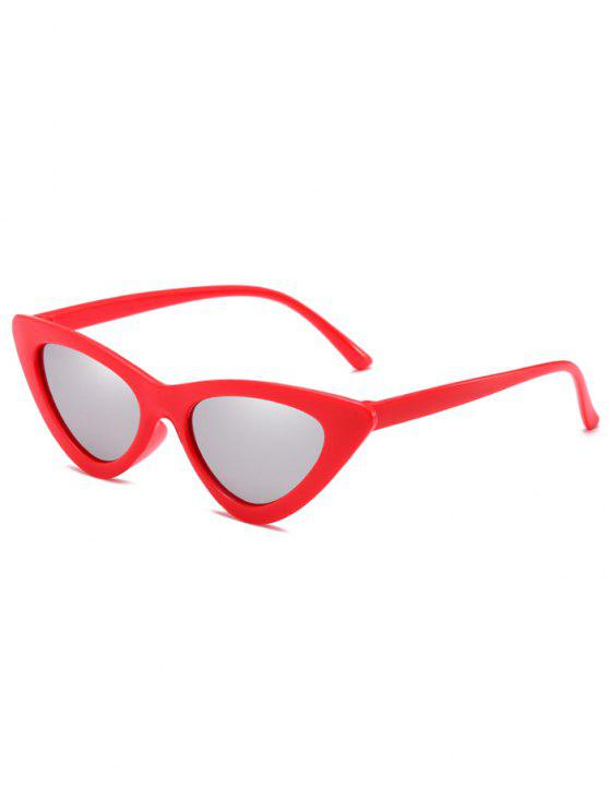 hot Anti Fatigue Flat Lens Catty Sunglasses - PLATINUM