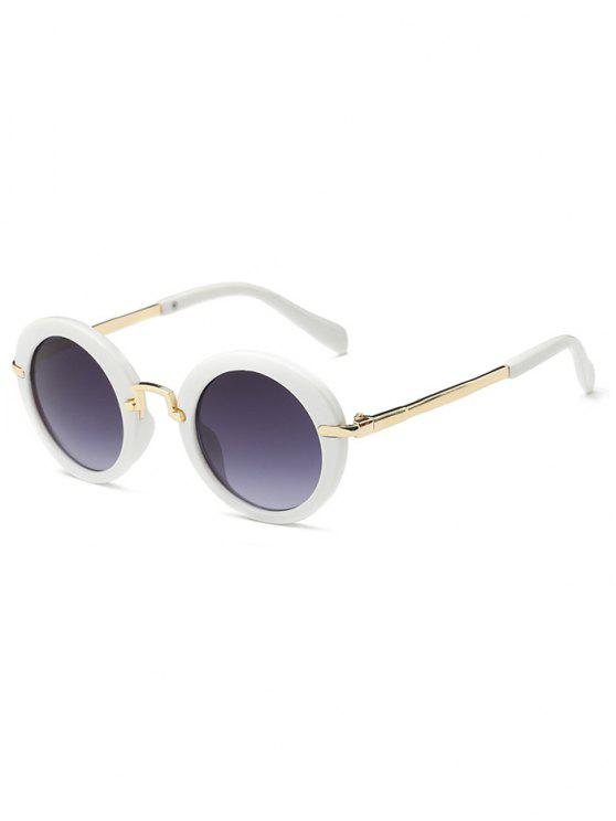 Anti-Ermüdung Full Frame flache Linse Oval Sonnenbrillen - Weiß