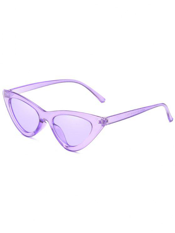 women Anti Fatigue Flat Lens Catty Sunglasses - MAUVE
