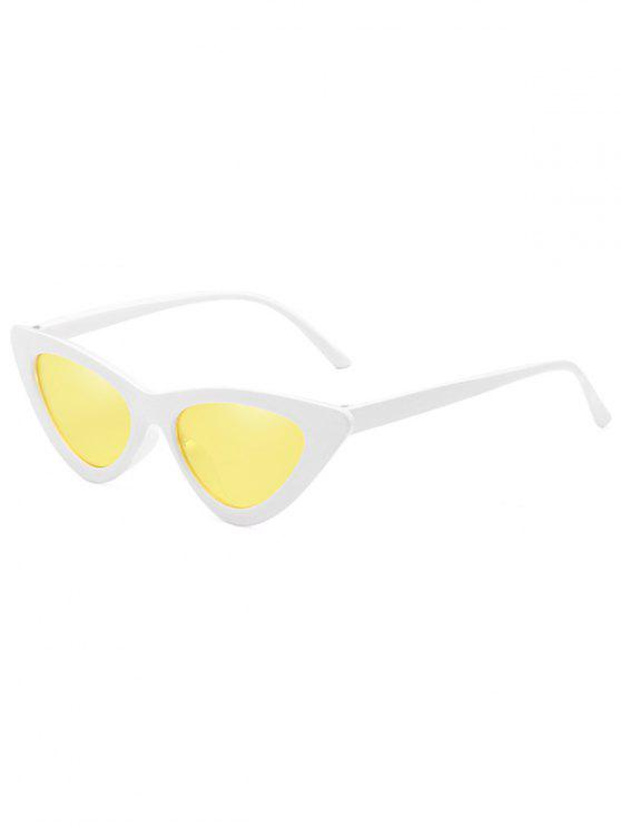 10d798082c 5% OFF  2019 Anti Fatigue Flat Lens Catty Sunglasses In SUN YELLOW ...