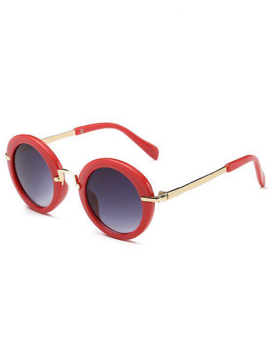 Gafas de sol ovales de lente plana de marco completo antifatiga - Rosa Rosada
