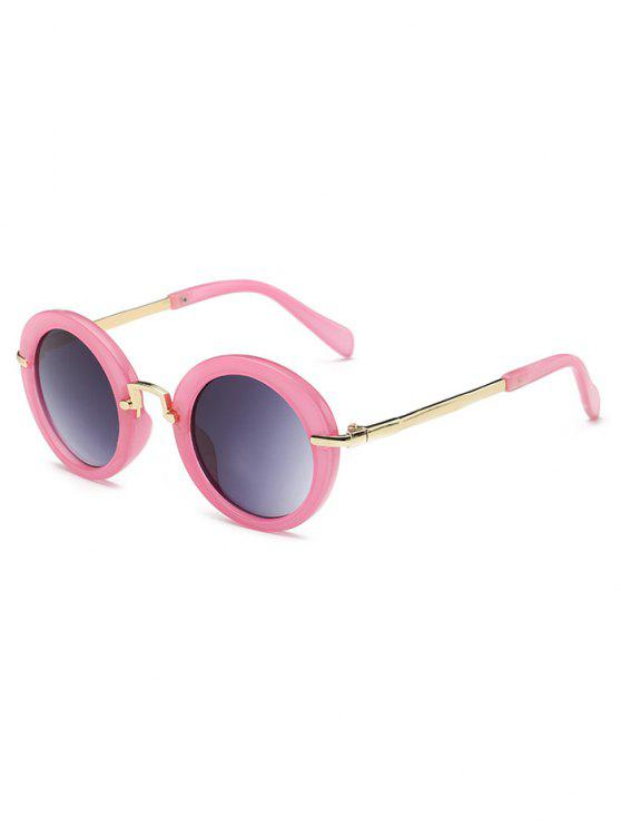 outfit Anti Fatigue Full Frame Flat Lens Oval Sunglasses - PINK DAISY