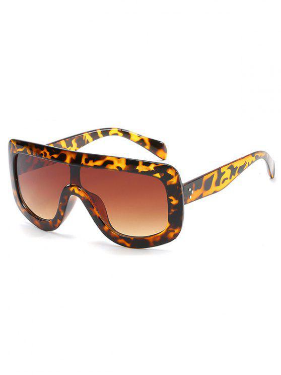 Óculos de Sol Anti-Fadiga Escudo Oversized - Castanha