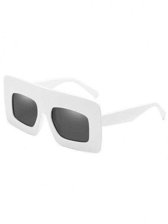 Anti-Ermüdung-breite Rahmen-Sonnenbrille-Sonnenbrille - Weiß