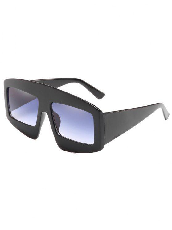 Stilvolle breite Rahmen flache Sonnenbrille - Schlachtschiff Grau
