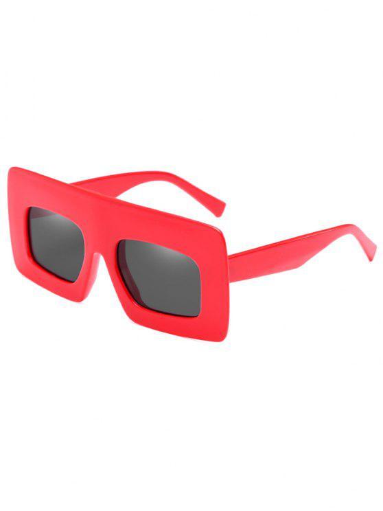 Anti-Ermüdung-breite Rahmen-Sonnenbrille-Sonnenbrille - Rot