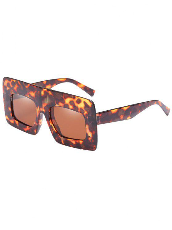Anti-Ermüdung-breite Rahmen-Sonnenbrille-Sonnenbrille - Dunkelbraun