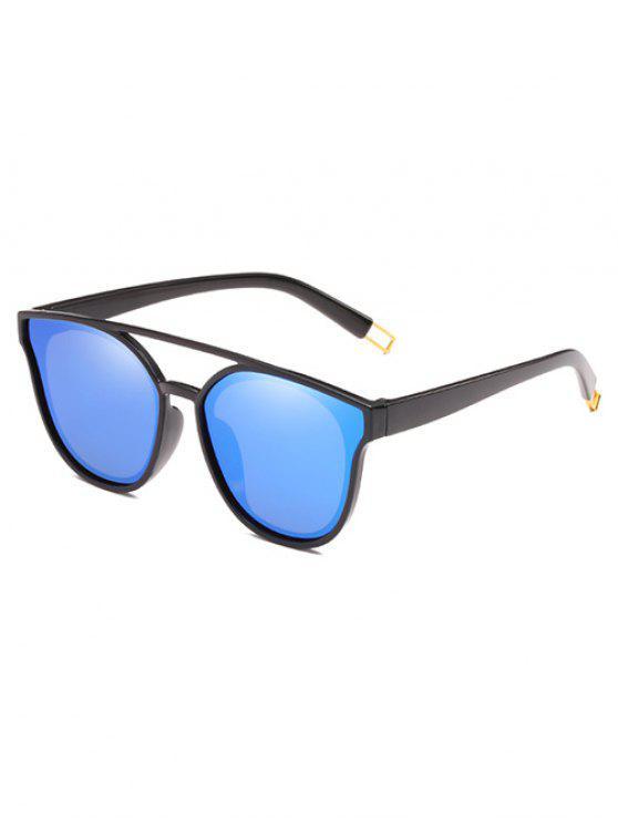 Anti-Ermüdungs-Querbalken-dekorative Sonnenbrille - Königlich Blau