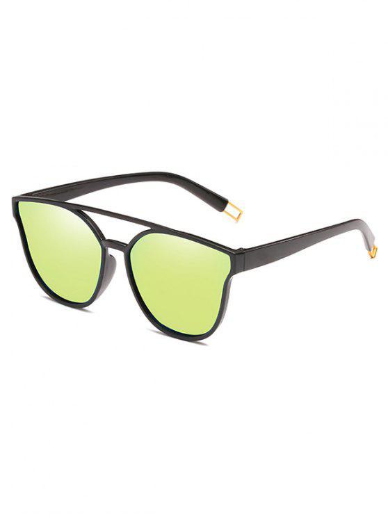 Anti-Ermüdungs-Querbalken-dekorative Sonnenbrille - Ernte Gelb