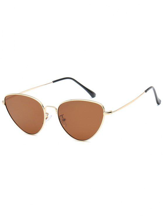 Anti-Ermüdung Metall Full Frame Catty Sonnenbrille - Braun