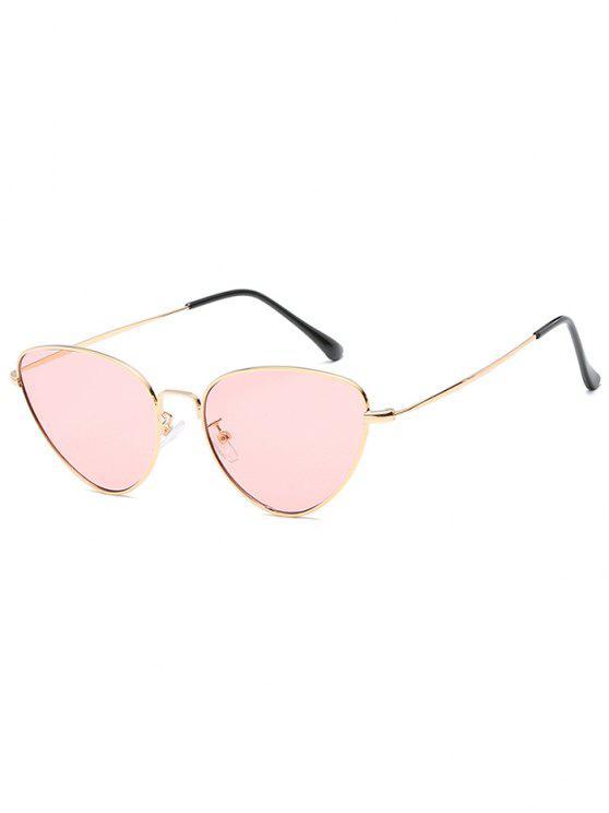 Anti-Ermüdung Metall Full Frame Catty Sonnenbrille - Rosa Kaugummi