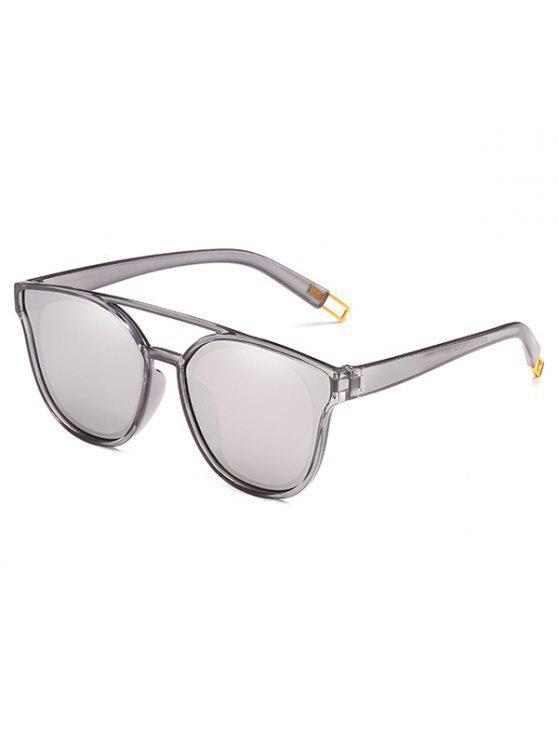 Anti-Ermüdungs-Querbalken-dekorative Sonnenbrille - Silber
