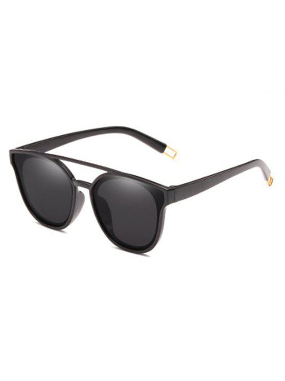 Anti-Ermüdungs-Querbalken-dekorative Sonnenbrille - Schwarz