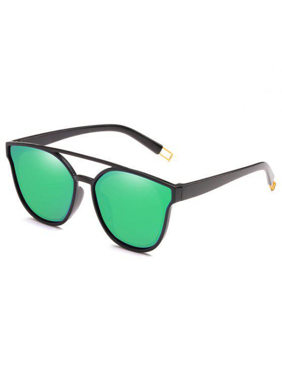 Anti-Ermüdungs-Querbalken-dekorative Sonnenbrille - Grünlisches Gelb