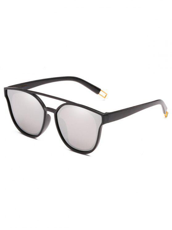 Anti-Ermüdungs-Querbalken-dekorative Sonnenbrille - Platin
