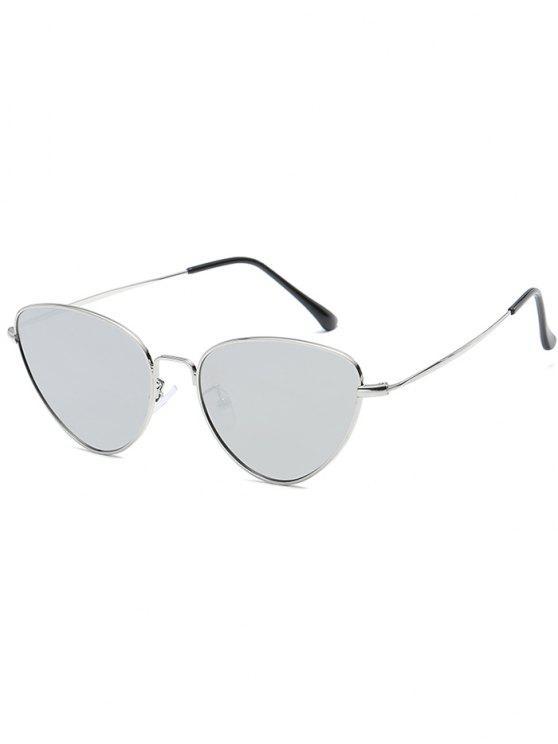 Anti-Ermüdung Metall Full Frame Catty Sonnenbrille - Platin