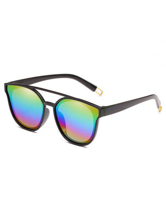 Anti-Ermüdungs-Querbalken-dekorative Sonnenbrille - Gelb