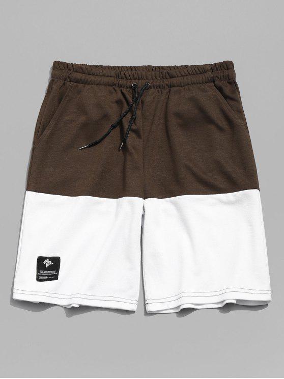 Zweifarbige Sport Basketball Shorts - Dark Khaki 2XL