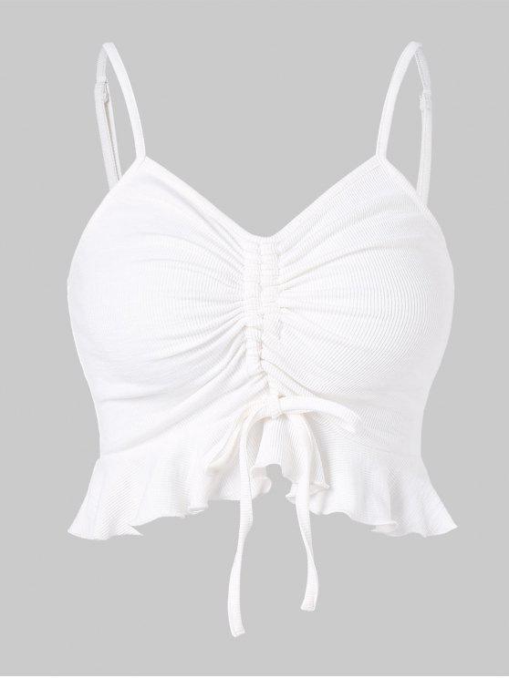 Camisola de alças com nervuras - Branco XL
